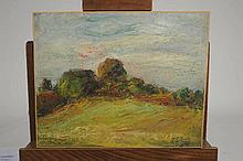 """Joseph LE TESSIER (1867-1949). """" Paysage aux envir"""