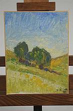 """Joseph LE TESSIER (1867-1949) """" Paysage au deux ar"""