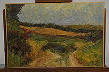 """Joseph LE TESSIER (1867-1949) """" Paysage aux enviro"""