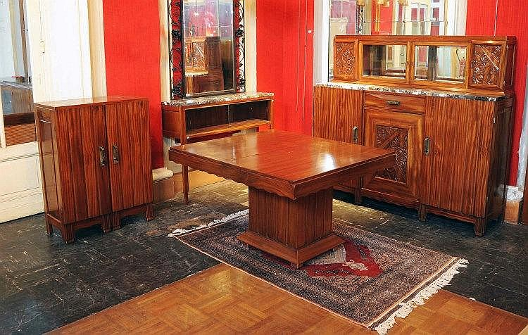 Furniture salle manger compos e d 39 un buffet en acajou m for Buffet salle a manger conforama