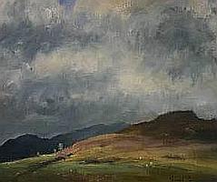 Oil Paintings: GARETH PARRY oil - landscape,