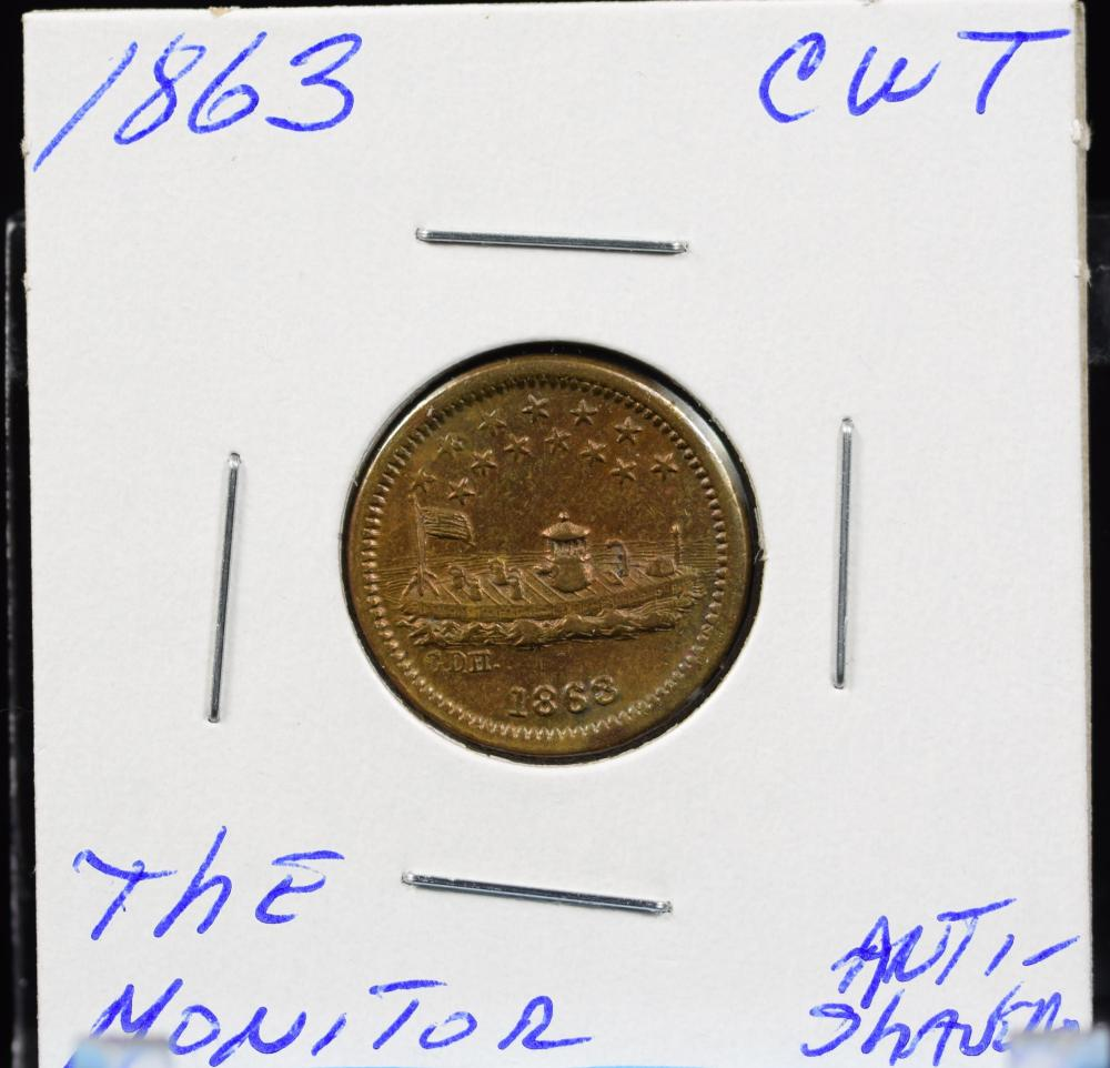 1863 CWT The Monitor Anti Slavery Sought After Type