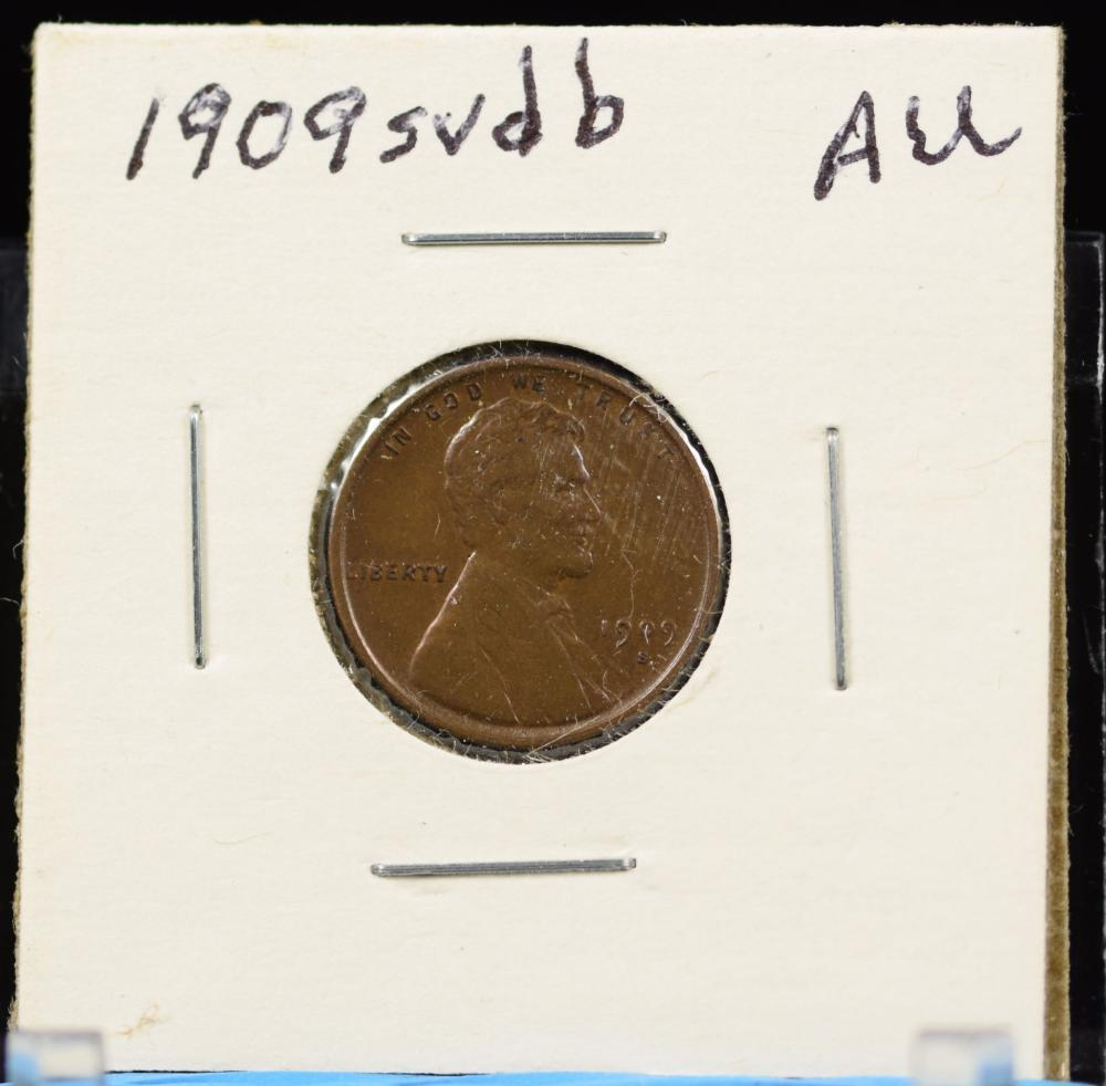 1909-S VDB Lincoln Cent AU Hard Date