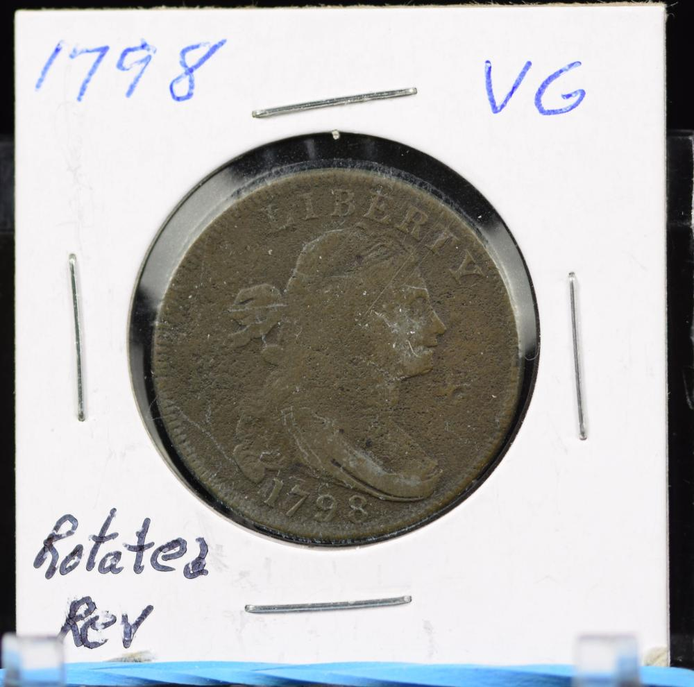 1798 Large Cent Very Good Rotate REV