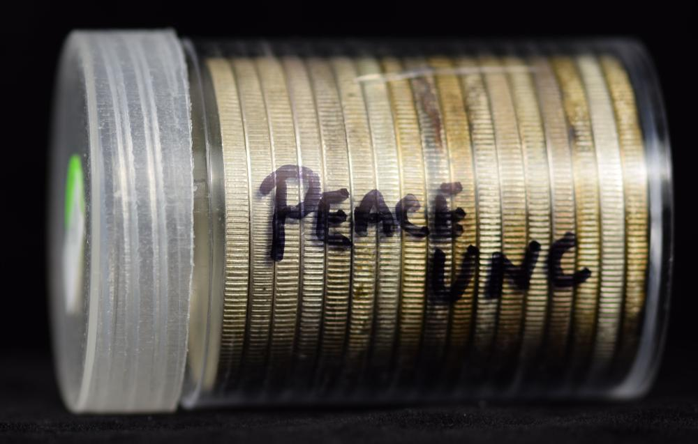Roll of Peace Dollars Mixed Dates UNC