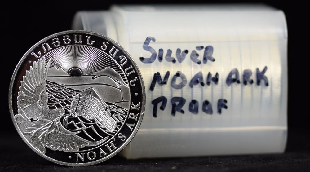Roll of Proof Silver Noahs Ark 1 oz Rounds