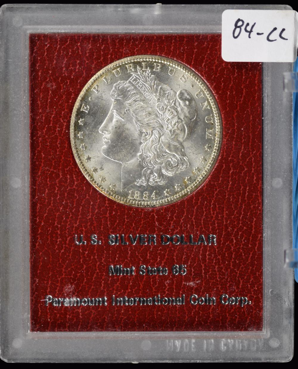 1884-CC Morgan Dollar Redfield Collection Paramount MS65