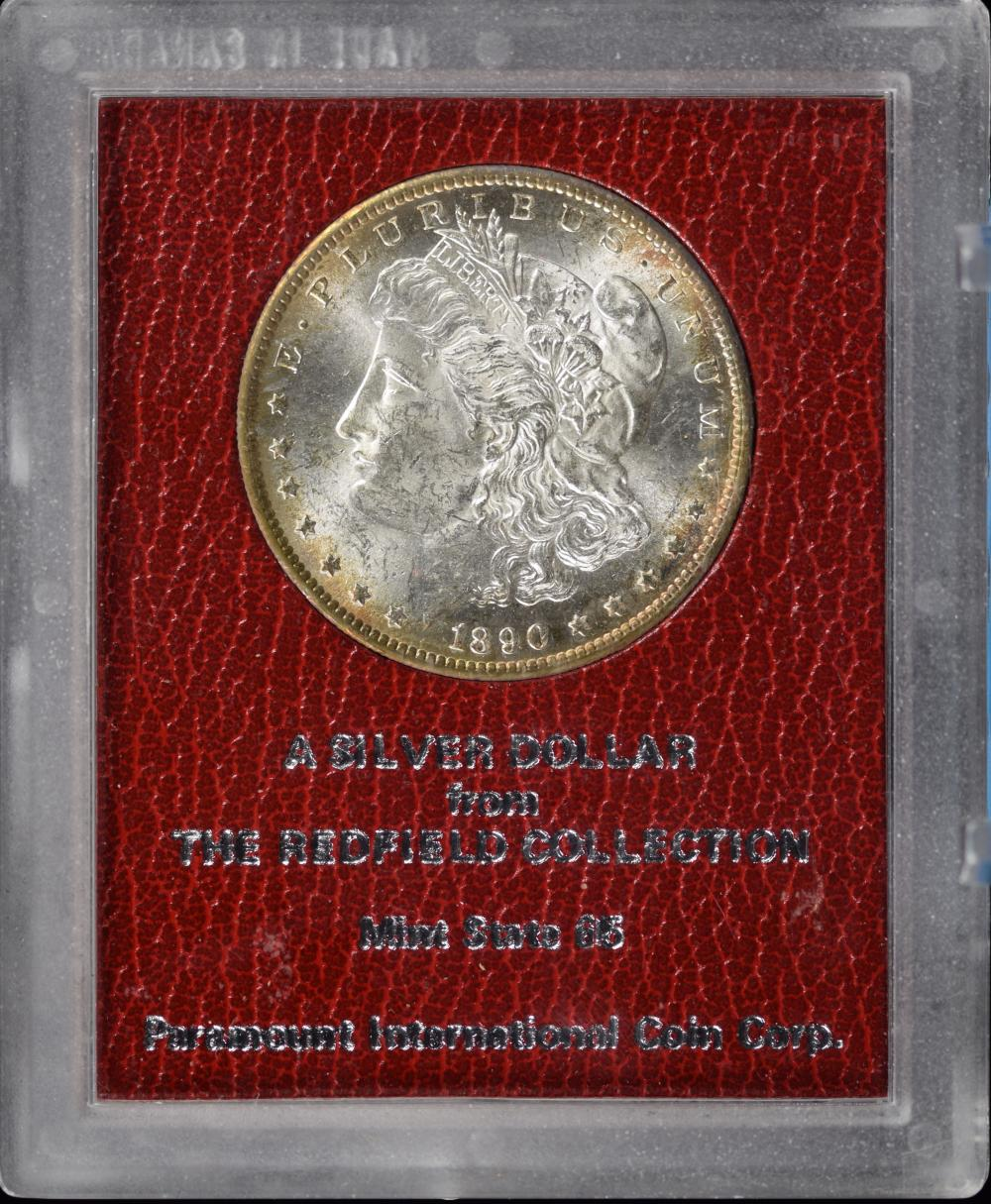 1890-S Morgan Dollar Redfield Collection Paramount MS65
