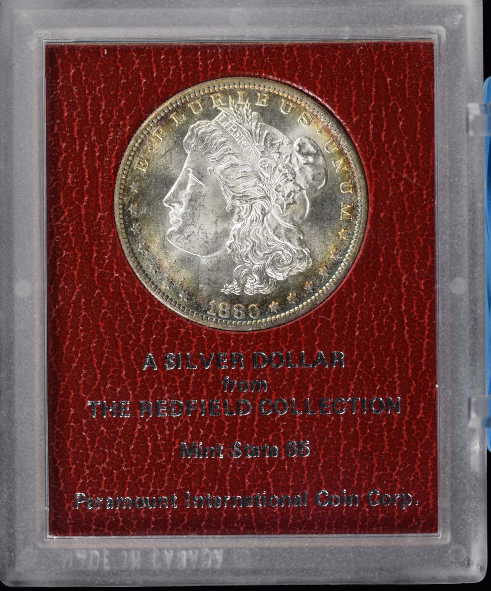 1880-S Morgan Dollar Redfield Collection Paramount MS65