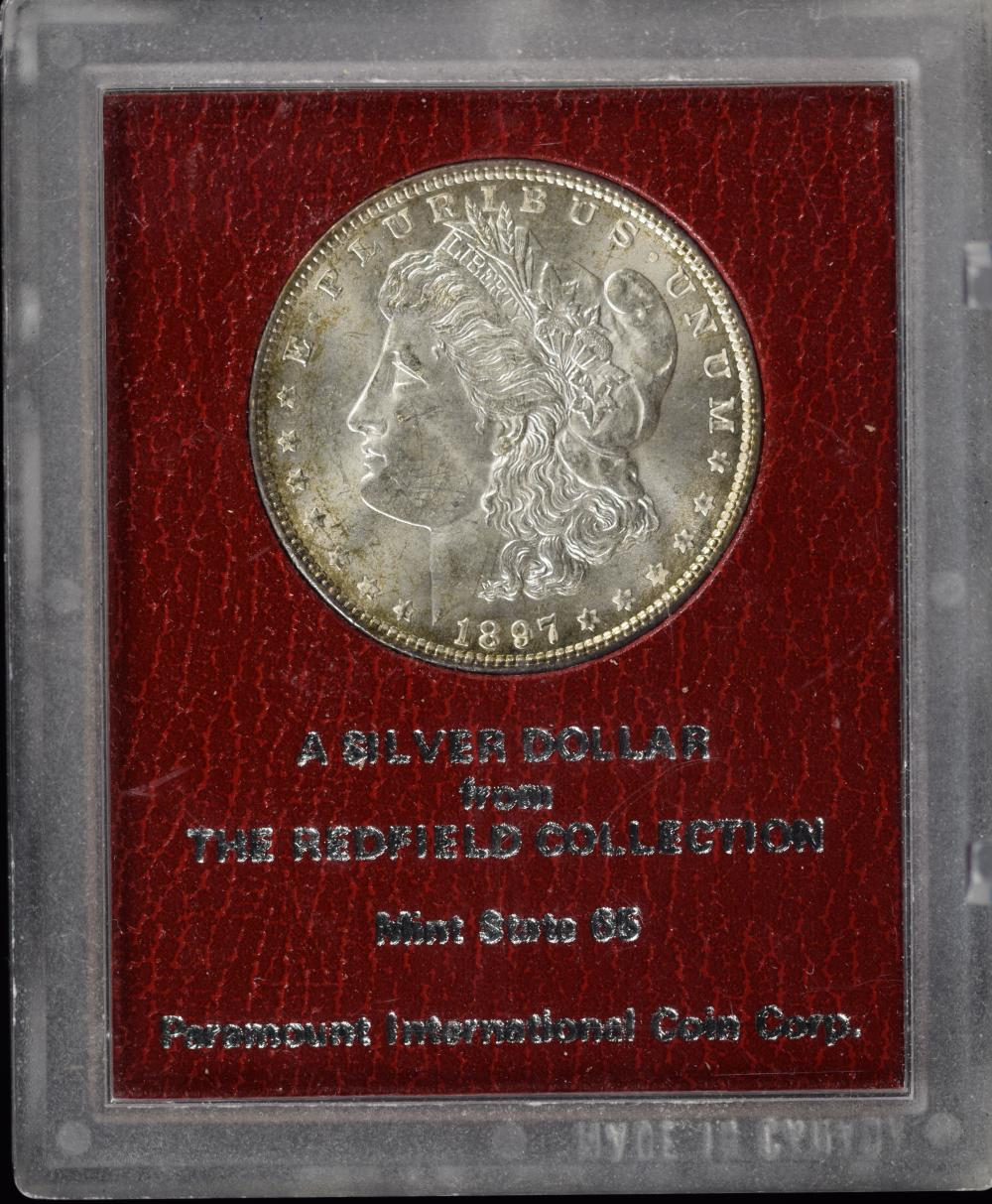 1897 Morgan Dollar Redfield Collection Paramount MS65
