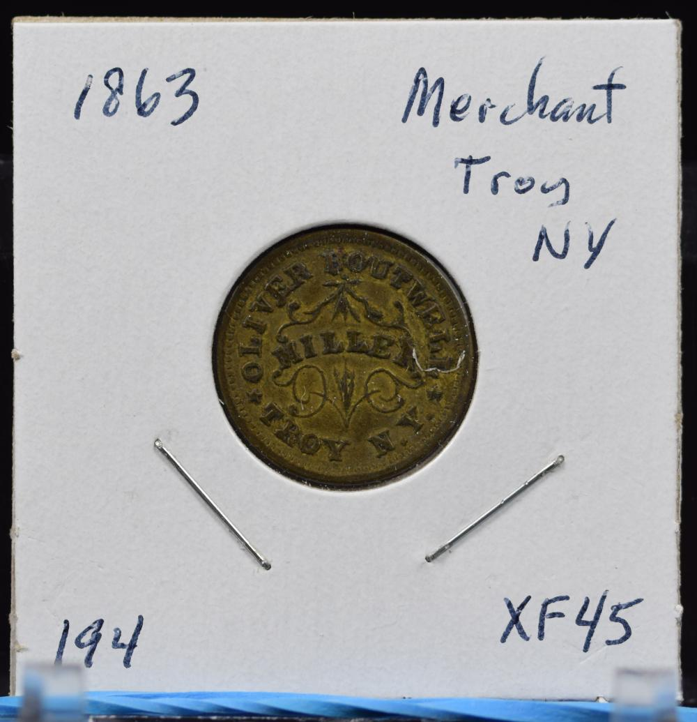1863 CWT Miller Troy NY XF45