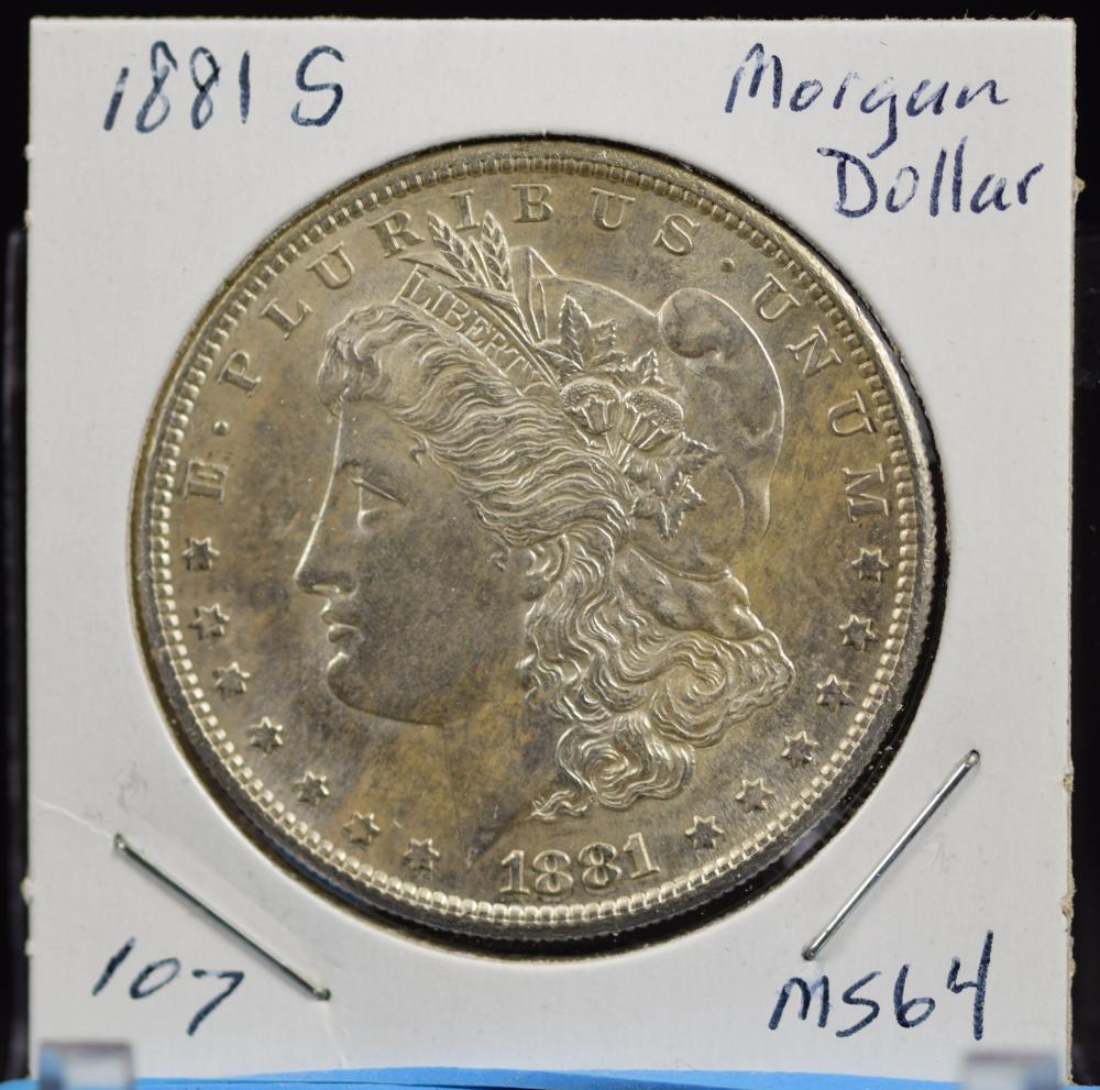 1881-S Morgan Dollar MS64