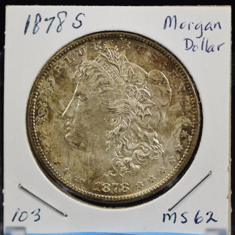 1878-S Morgan Dollar MS62