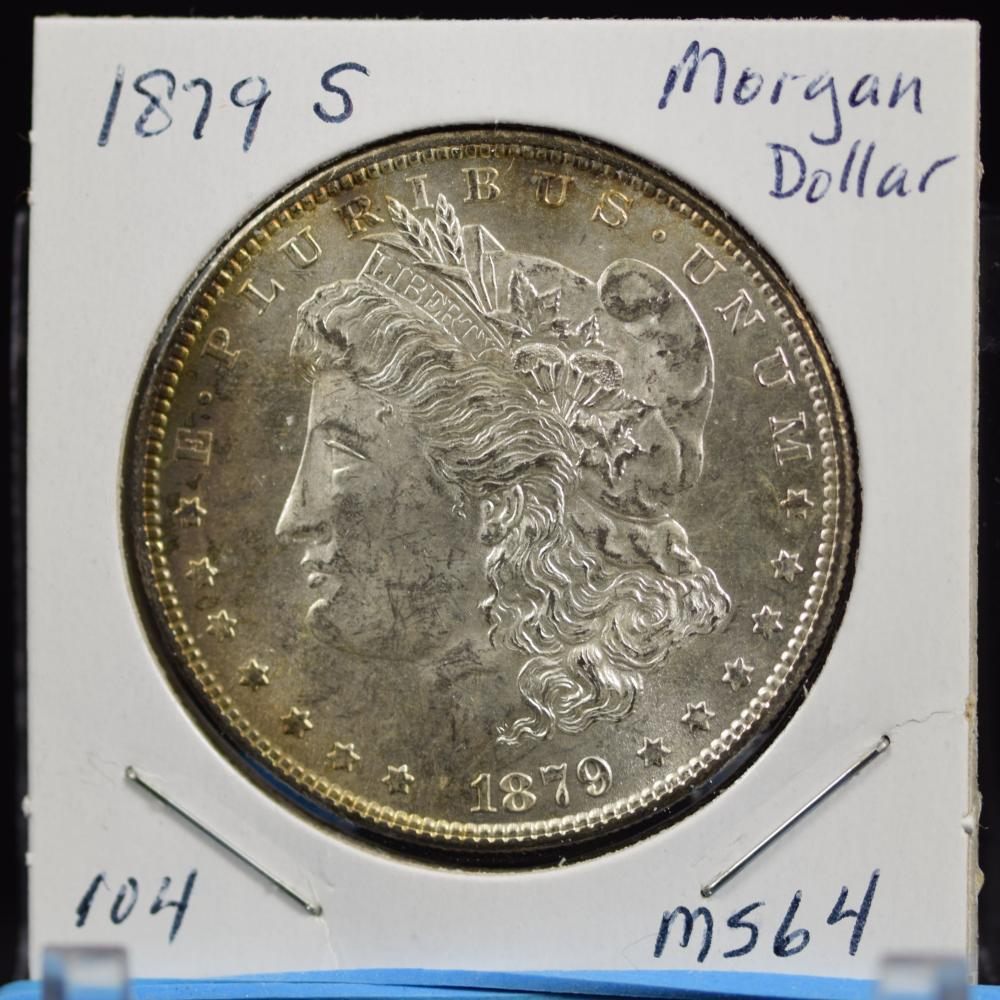 1879-S Morgan Dollar MS64