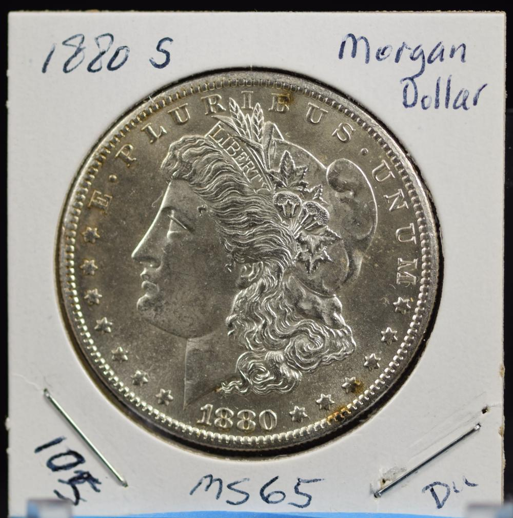 1880-S Morgan Dollar MS65