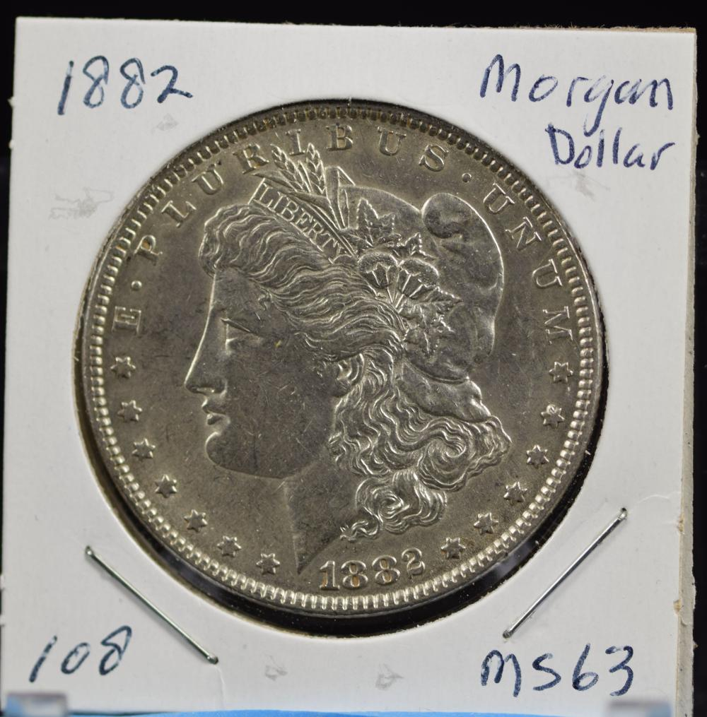 1882 Morgan Dollar MS63