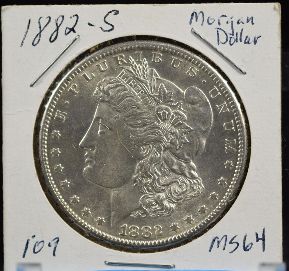 1882-S Morgan Dollar MS64