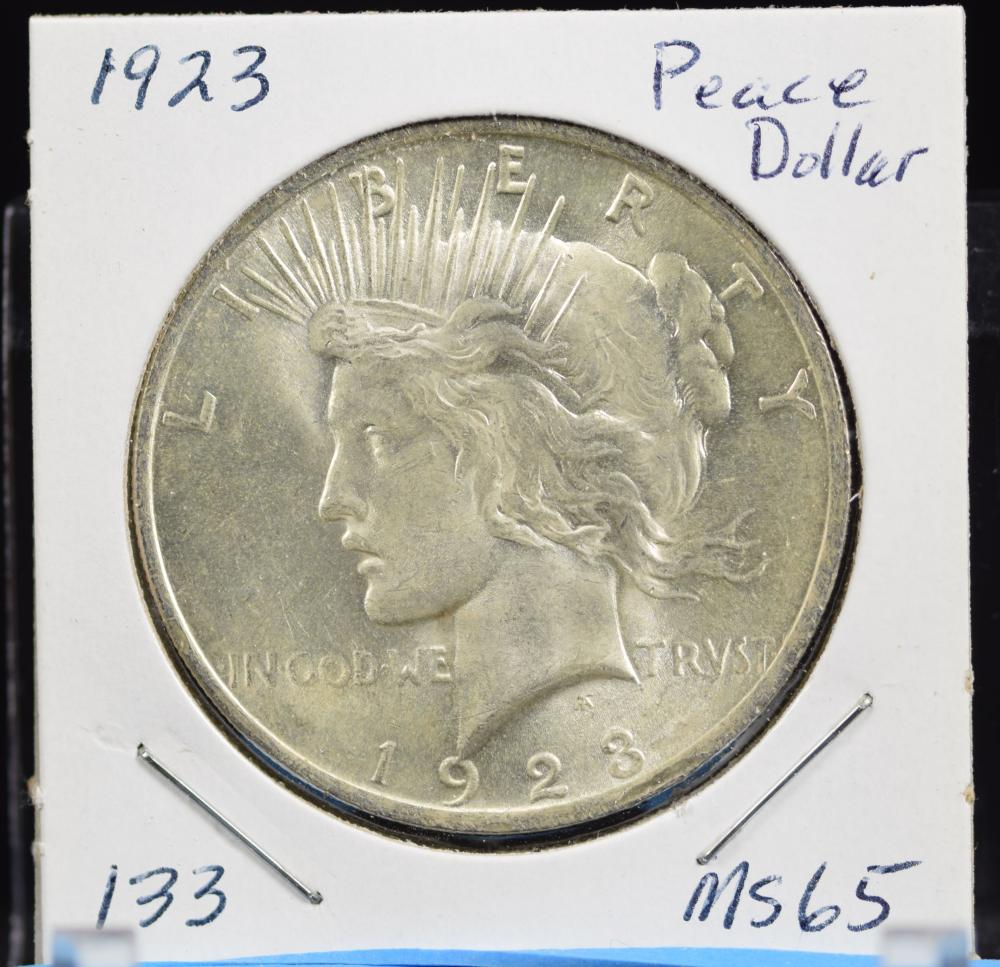 1923 Peace Dollar MS65