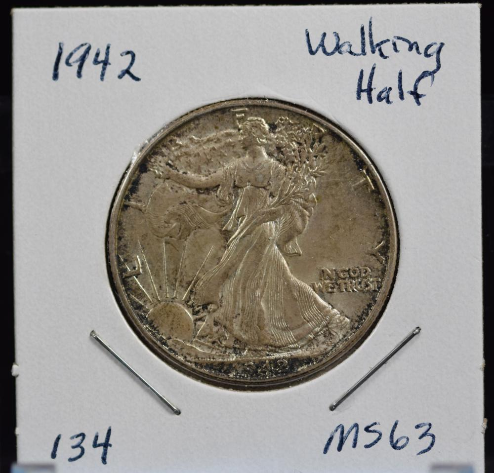 1942 Walking Half Dollar MS63
