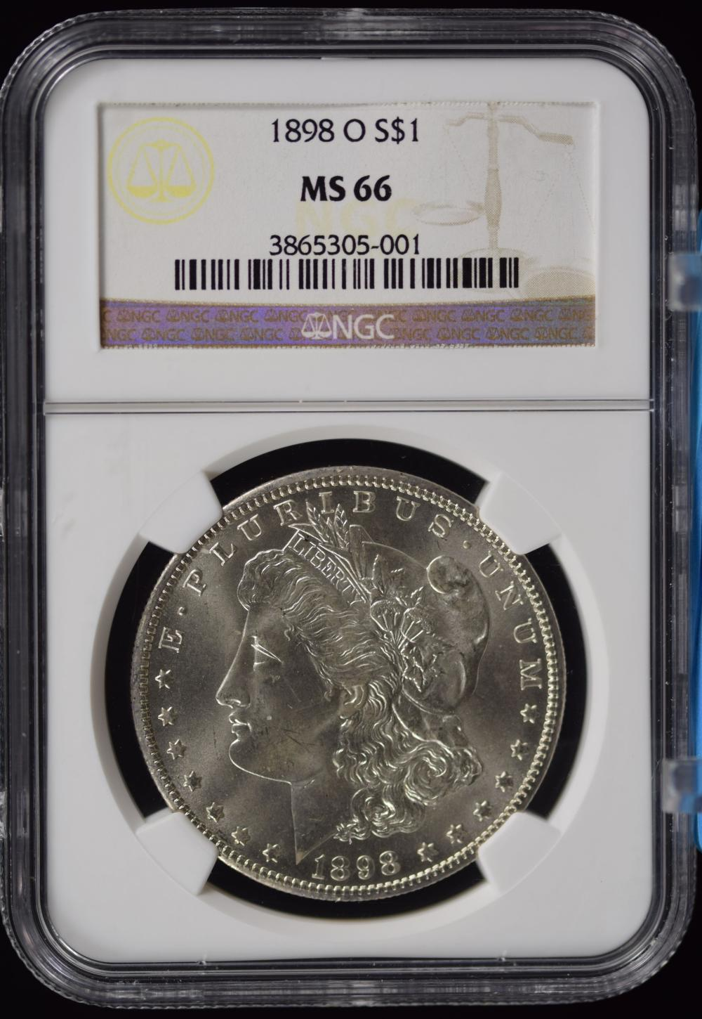 1898-O Morgan Dollar NGC MS-66