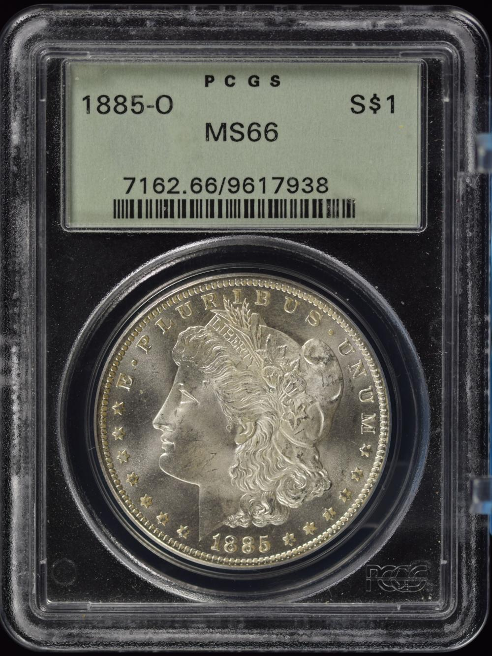 1885-O Morgan Dollar PCGS MS-66