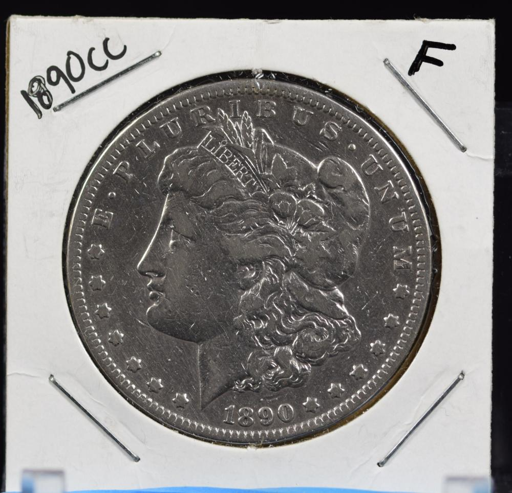 1890-CC Morgan Dollar F