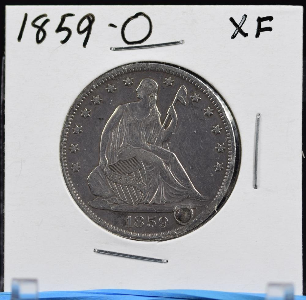 1859-O Seated Half Dollar XF