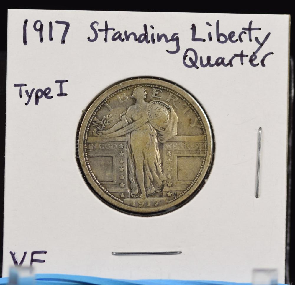 1917 Standing Liberty Quarter Type 1 VF
