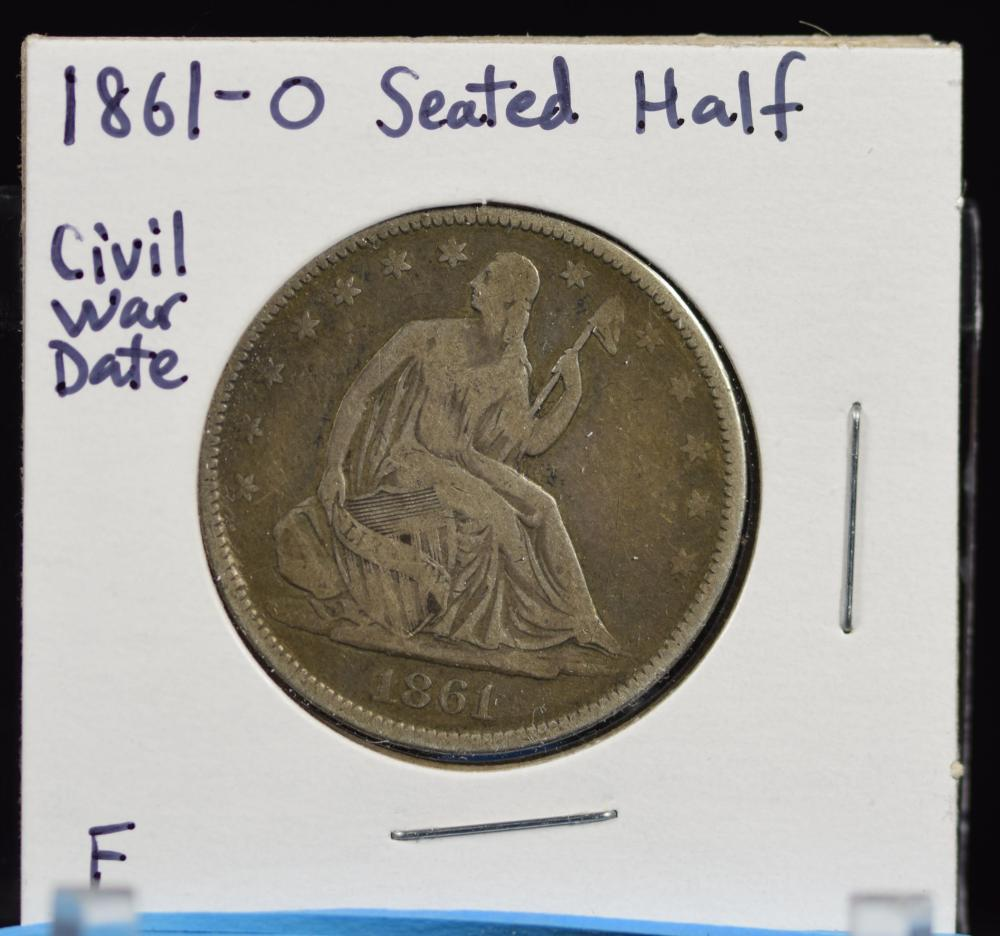 1861-O Seated Half Dollar Civil War Date F