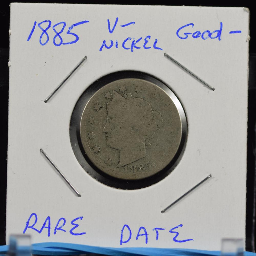 1885 Liberty Nickel RARE Date Low Mintage