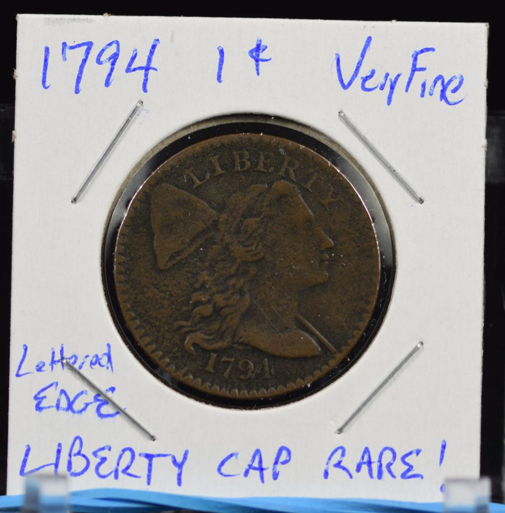 1794 Large Cent Liberty Cap Letter Edge