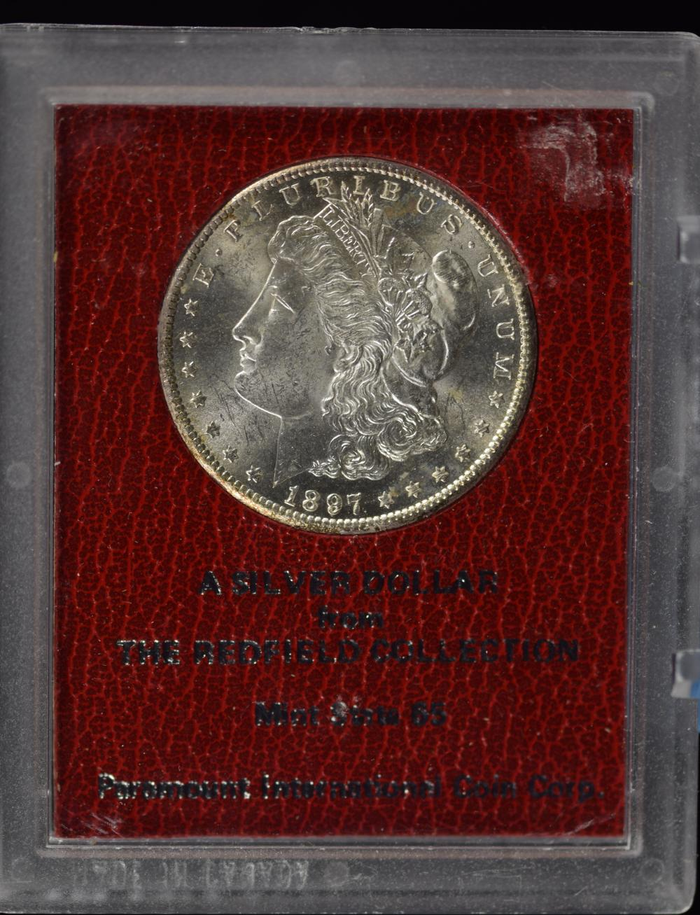 1897-S Morgan Redfield Pedigree Dollar MS65