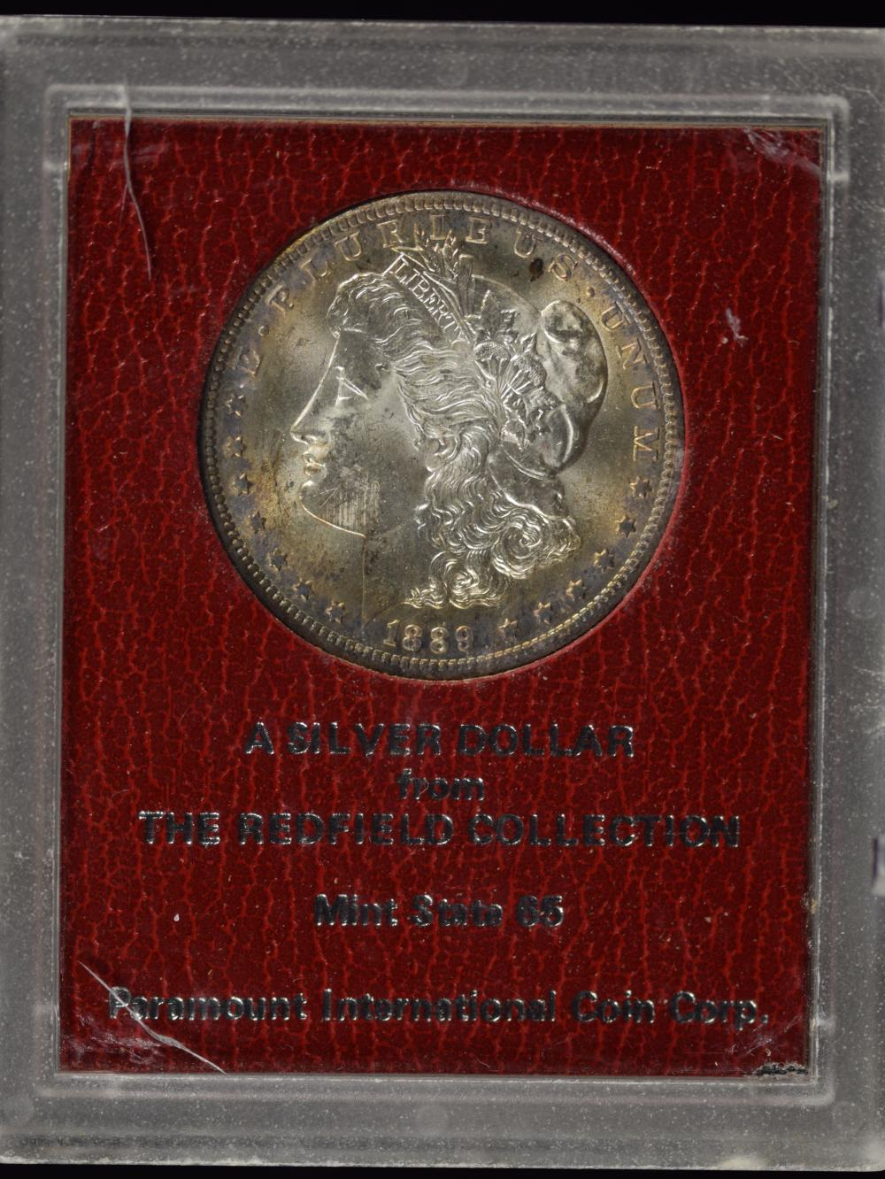 1889-S Morgan Redfield Pedigree Dollar MS65