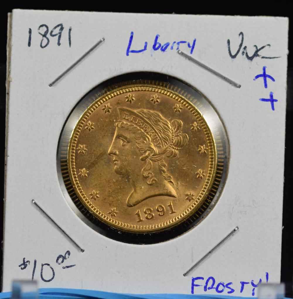 1891 $10 Gold Liberty UNC Plus