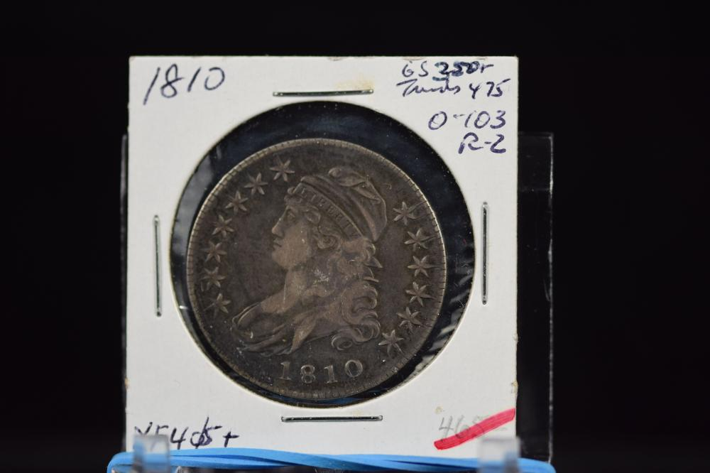 1810 Bust Half Dollar Original XF Plus