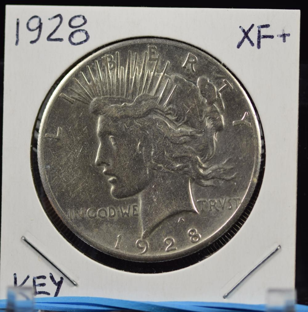 1928 Peace Dollar XF/AU KEY