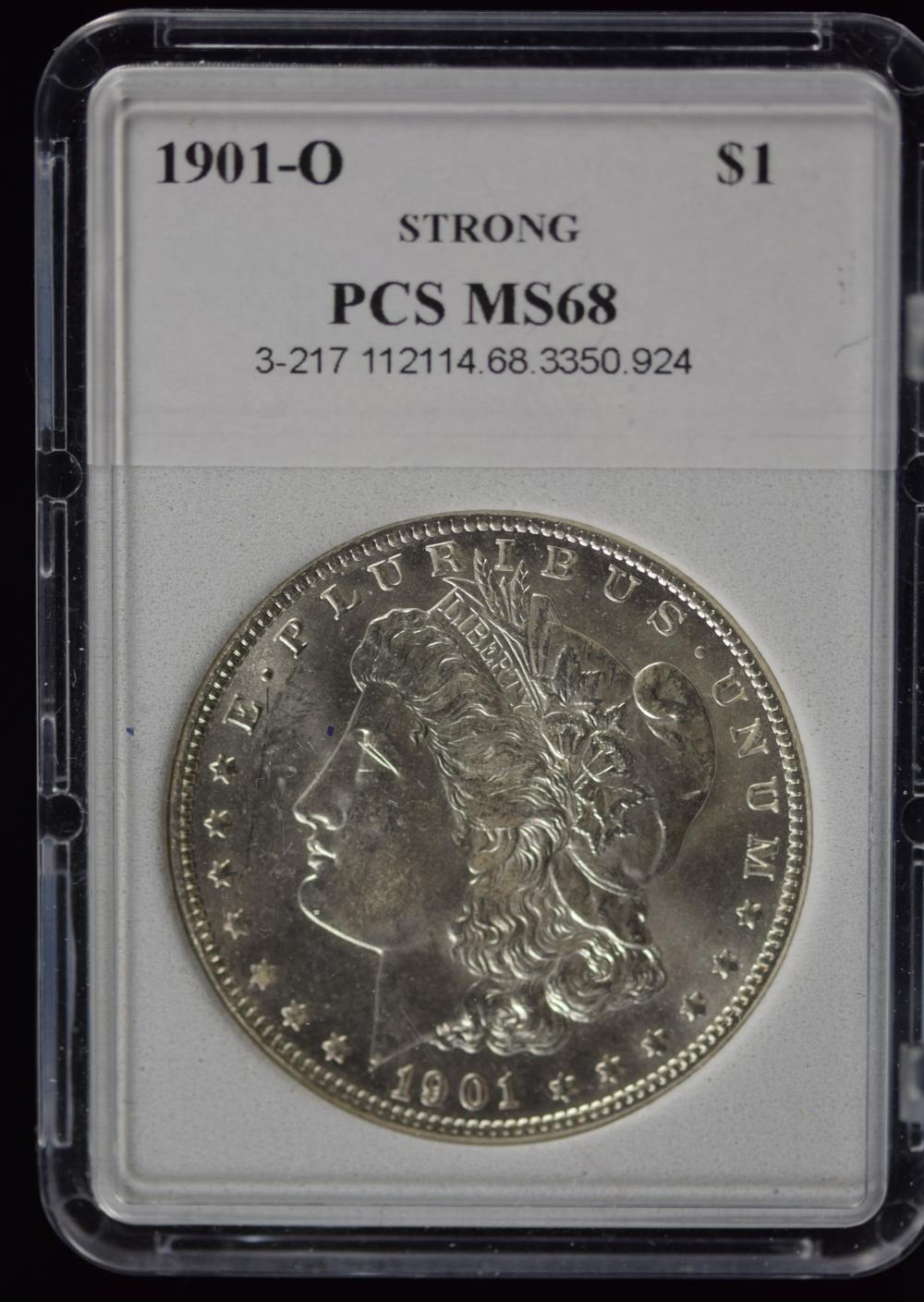 1901-O Morgan Dollar PCS MS-68 Gorgeous