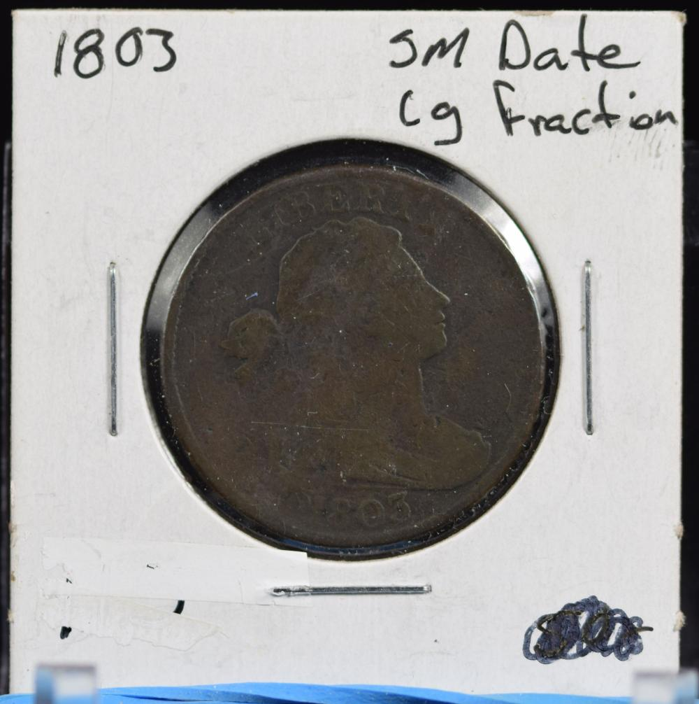 1803 Large Cent small Date Lg Fraction Fine
