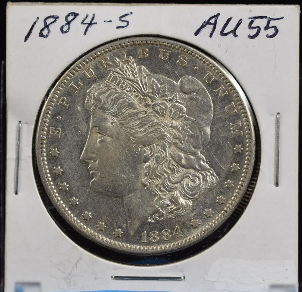 1884-S Morgan Dollar AU55