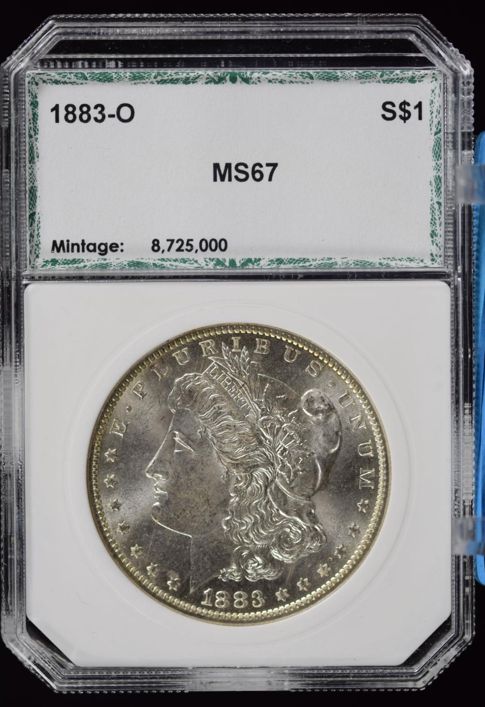 1883-O Morgan Dollar PCI MS67
