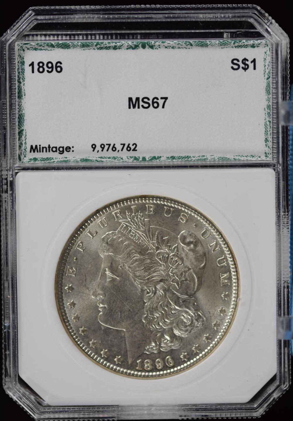 1896 Morgan Dollar PCI MS67
