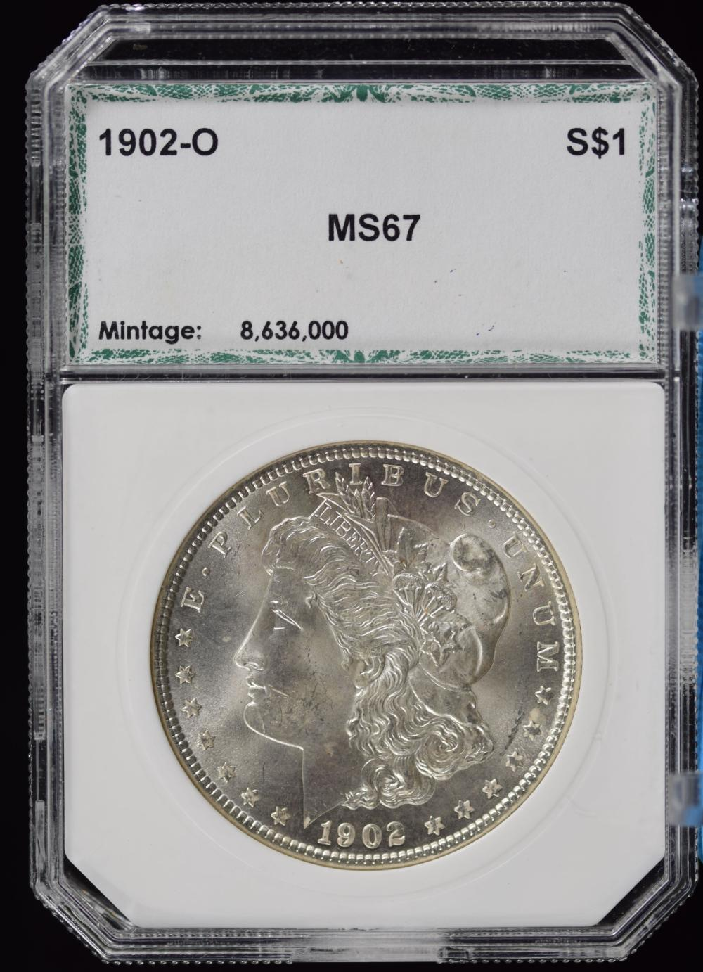 1902-O Morgan Dollar PCI MS67