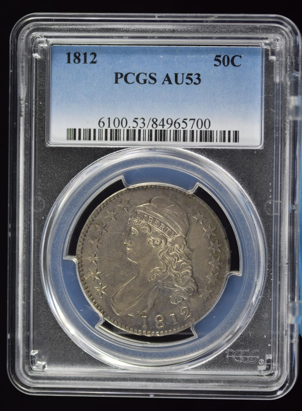 1812 Capped Bust Half Dollar PCGS AU-53 Awesome