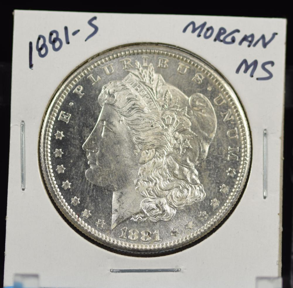 1881-S Morgan Dollar MS