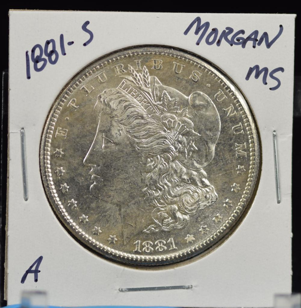 1881-S Morgan Dollar MS A