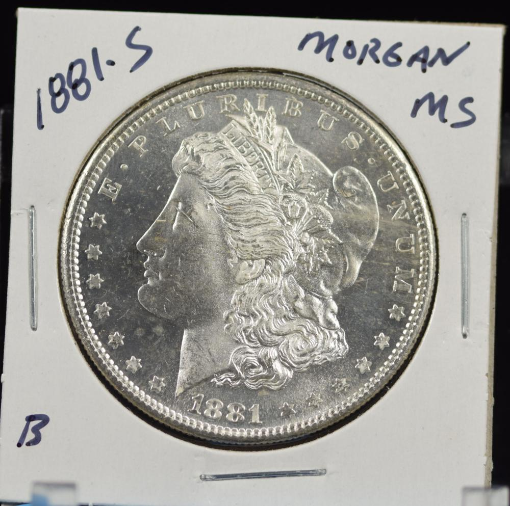 1881-S Morgan Dollar MS B