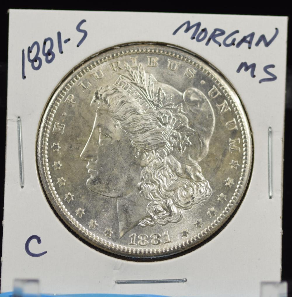 1881-S Morgan Dollar MS C