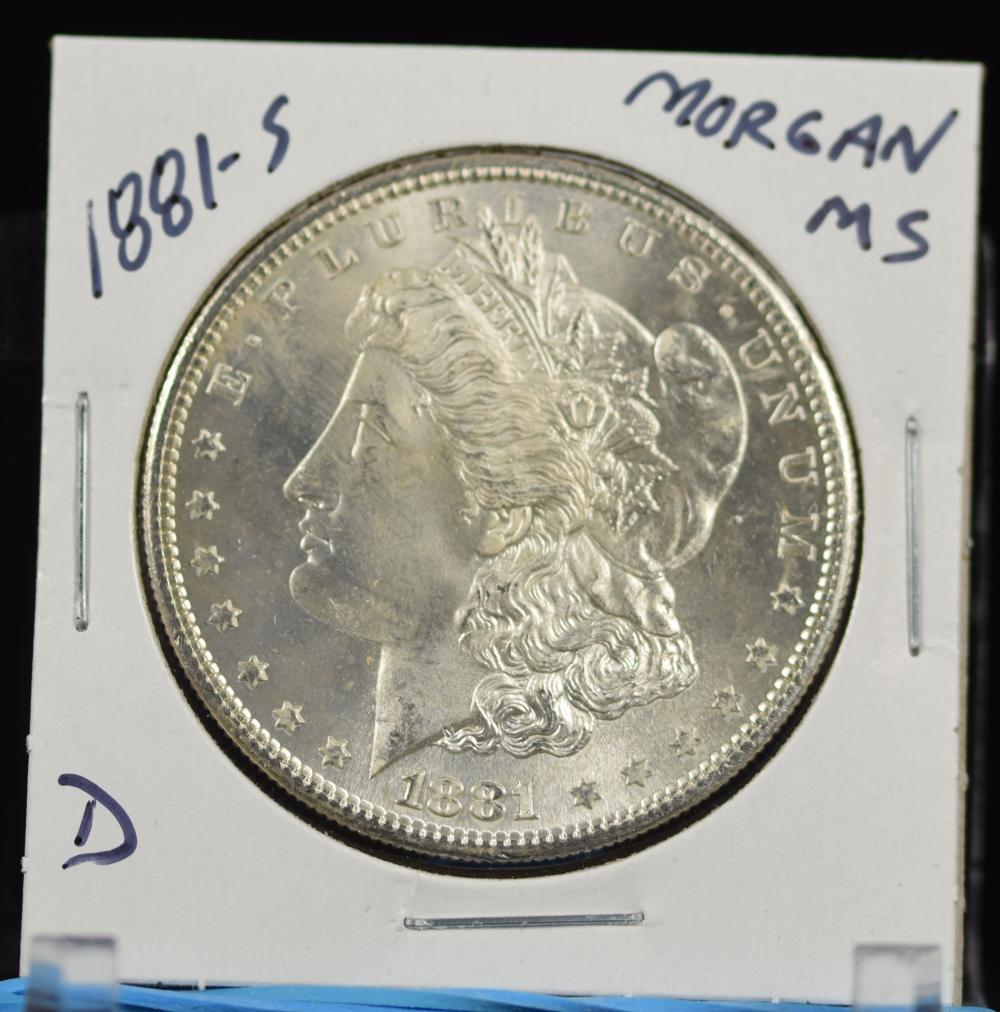 1881-S Morgan Dollar MS D