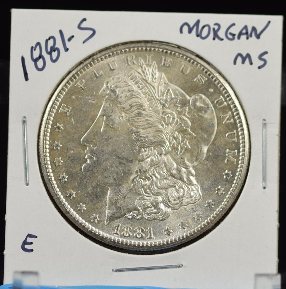 1881-S Morgan Dollar MS E