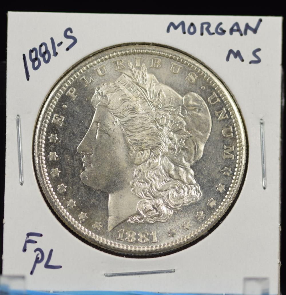 1881-S Morgan Dollar MS F PL